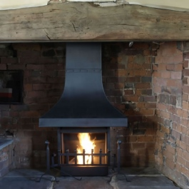Large Steel Canopy Convection Open fire High Performance