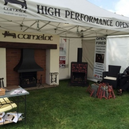 Ou open dfires stand at Moreton Contry show, Cotswolds.