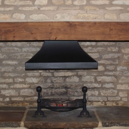 Handmade Fire Basket with Complementary Canopy Hood