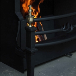 Polished Brass Open Fire