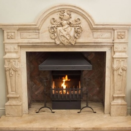Grand Hand Forged Open Fire in Regal Fireplace