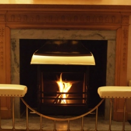 Grand Fireplace with Handmade Open Fire 2