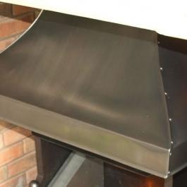 Polished steel without matt black base coat