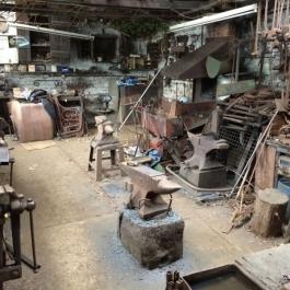 The Blacksmiths shop between firings. A well earned cup of tea.