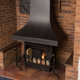 Themovent Anniversary edition open fire installed in Inglenook in this Thatched cottage.