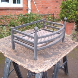 Traditional hand forged fire basket.