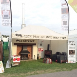 Woodburning open fires stand at Cotswold Show