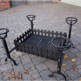 4 sided fire grate