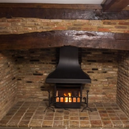 Traditional Fireplace with Open Fire