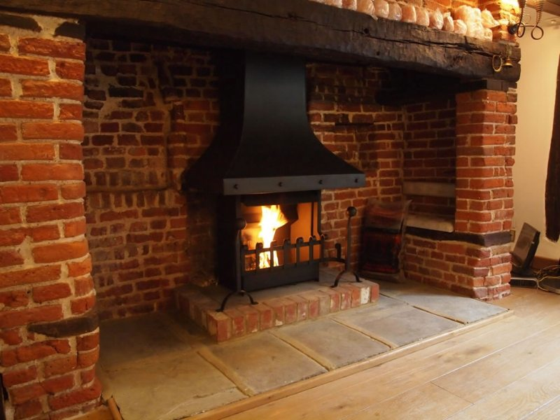 anniversary edition thermovent high performance open fire installed rh camelotrealfires co uk Fireplace Mortar Fire Brick Tile Fireplace