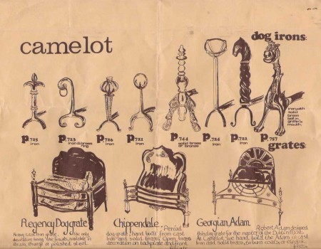 Camelot dog and grate leaflet