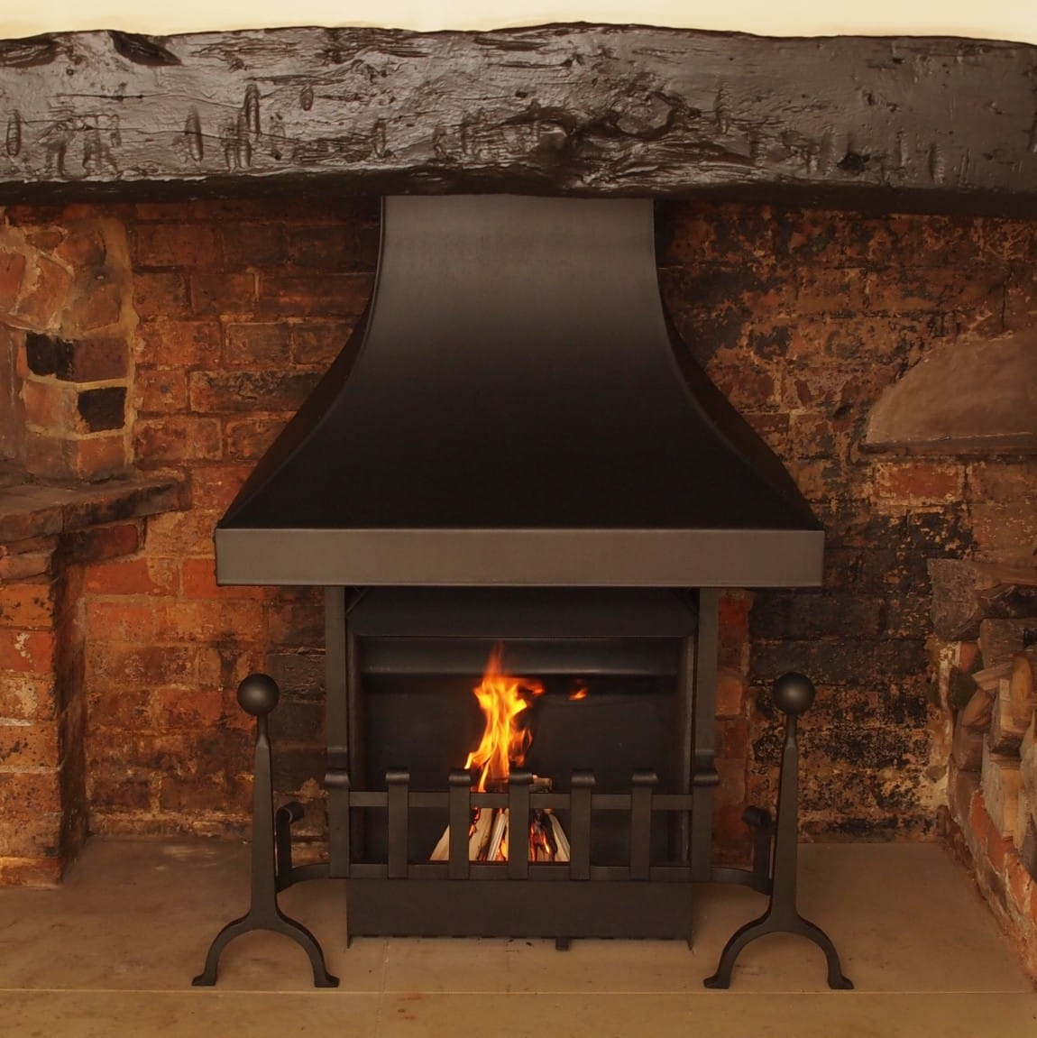 thermovent1 & Efficiency and high performance in open fires - Camelot Real Fires